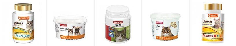 Рейтинг лучших витаминов для кошек